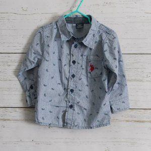 Striped Button-down shirt 2T